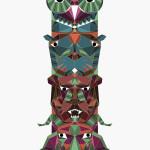 The Divine Totem Pole Colour